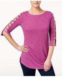 Love Scarlett - Petite Ladder-sleeve T-shirt - Lyst