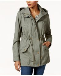 Style & Co. - Petite Cotton Hooded Utility Jacket - Lyst
