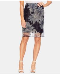 Vince Camuto - Floral-overlay Skirt - Lyst