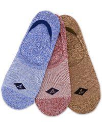 Sperry Top-Sider - Athletic Compression Liner Socks 3-pack - Lyst