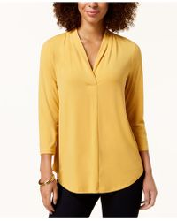 Charter Club - 3/4-sleeve Top, Created For Macy's - Lyst