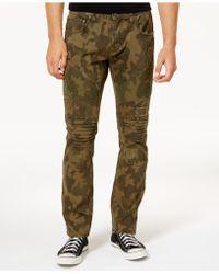 INC International Concepts - Men's Slim-fit Camo Moto Jeans - Lyst