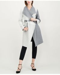 Alfani - Petite Draped Colorblocked Coat, Created For Macy's - Lyst