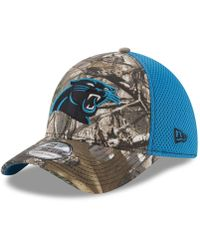 check out 084df 1b4c4 KTZ - Carolina Panthers Realtree Camo Team Color Neo 39thirty Cap - Lyst