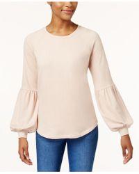 Style & Co. - Bishop-sleeve Sweatshirt - Lyst