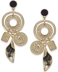 INC International Concepts - I.n.c. Gold-tone Velvet-covered Stone Multi-charm Statement Earrings, Created For Macy's - Lyst