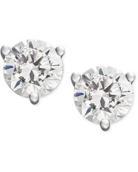 Macy's - Near Colorless Certified Diamond Stud Earrings In 18k White Or Yellow Gold (1/2 Ct. T.w.) - Lyst