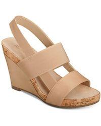 Aerosoles - Magnolia Plush Wedge Sandals - Lyst