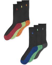 Polo Ralph Lauren - Men's Athletic Celebrity Crew Socks 6-pack - Lyst