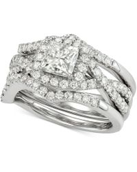 Macy's - Diamond 3pc. Bridal Set (2-1/4 Ct. T.w.) In 14k White Gold - Lyst