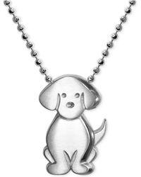 Alex Woo - Little Dog Zodiac Pendant Necklace In Sterling Silver - Lyst
