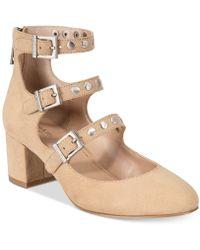 Charles David - Lewis Block-heel Court Shoes - Lyst