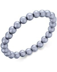 Charter Club | Silver-tone Gray Imitation Pearl Stretch Bracelet | Lyst