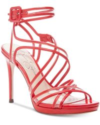 56719fa175e Lyst - Jessica Simpson Reesa Dress Sandals in Black