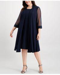 R & M Richards - Plus-size Embellished Dress & Jacket Set - Lyst