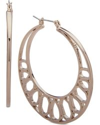 Ivanka Trump - Gold-tone Openwork Hoop Earrings - Lyst