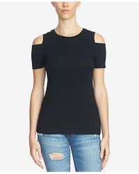 1.STATE - Crew-neck Cold-shoulder T-shirt - Lyst