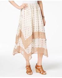 Style & Co. - Petite Diamond-striped Chiffon-hem Midi Skirt, Created For Macy's - Lyst