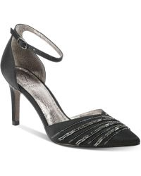 Adrianna Papell - Helma Embelished Pointed-toe Evening Pumps - Lyst