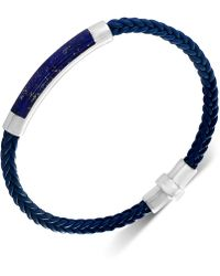 Effy Collection - Lapis Lazuli Braided Leather Bracelet In Sterling Silver (also In Malachite, Agate & Tiger's Eye) - Lyst