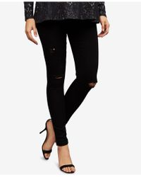 AG Jeans | Maternity Destructed Skinny Jeans | Lyst