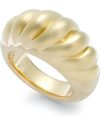 Signature Gold - Ribbed Dome Ring In 14k Gold - Lyst