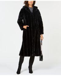 Jones New York - Hooded Maxi Faux-fur Coat - Lyst