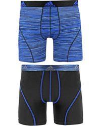 adidas Originals - Men's 2-pk. Sport Performance Climalite® Graphic Boxer Briefs - Lyst
