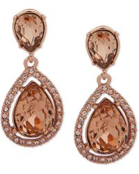 Givenchy - Stone & Crystal Teadrop Halo Drop Earrings - Lyst