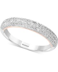 Effy Collection - Pavé Classica By Effy® Diamond Pavé Band (1/2 Ct. T.w.) In 14k White & Rose Gold - Lyst