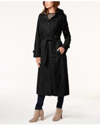 London Fog - Petite Belted Maxi Trench Coat - Lyst