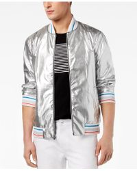 INC International Concepts - Silver Bomber Jacket, Created For Macy's - Lyst