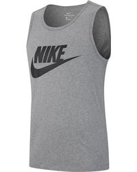 bd2953bdf02ed4 Lyst - Nike Men s Court Dry Tennis Tank Top in Blue for Men