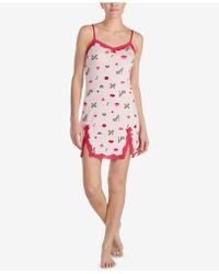 Betsey Johnson - Printed Lace-trim Slip - Lyst