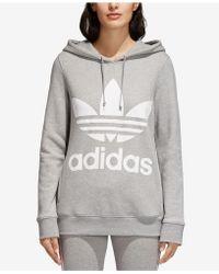 adidas - Originals Adicolor Cotton Trefoil Hoodie - Lyst
