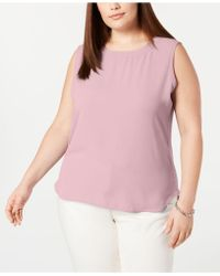 d264f77f2fd Soprano Plus Size Sleeveless Sequined Top in Metallic - Lyst