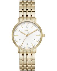 DKNY - Minetta Gold-tone Stainless Steel Bracelet Watch 36mm, Created For Macy's - Lyst