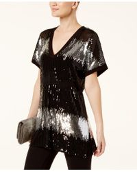 INC International Concepts - Colorblocked Sequined Tunic - Lyst