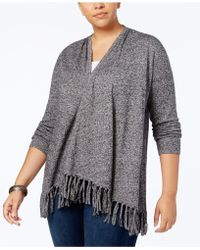 Style & Co. | Plus Size Fringed Open-front Cardigan | Lyst