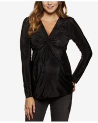 Jessica Simpson - Maternity Ruched V-neck Top - Lyst