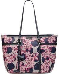1f15ab9b59 Ted Baker Deanna Peach Blossom Crosshatch Small Tote in Pink - Lyst