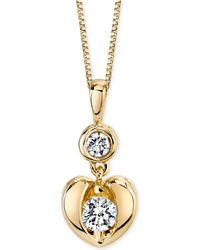 Sirena - Diamond Heart Pendant Necklace In 14k White Or Yellow Gold (1/4 Ct. T.w.) - Lyst