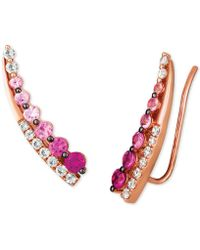 Le Vian - ® Strawberry Layer Cake Multi-gemstone Ear Climbers In 14k Rose Gold - Lyst