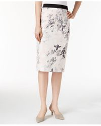Alfani - Petite Printed Pencil Skirt, Created For Macy's - Lyst