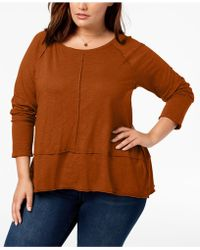 Style & Co. - Plus Size Seamed High-low Top, Created For Macy's - Lyst