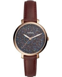 Fossil | Women's Jacqueline Red Leather Strap Watch 36mm | Lyst