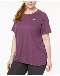Nike - Plus Size Breathe Tailwind Running Top - Lyst