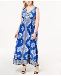 INC International Concepts - I.n.c. Plus Size Printed Surplice-neck Maxi Dress, Created For Macy's - Lyst