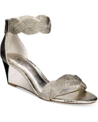 Adrianna Papell - Adelaide Ankle Strap Wedge Evening Sandals - Lyst