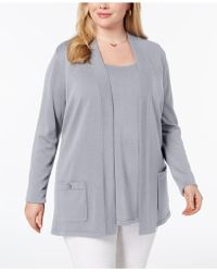 Anne Klein - Plus Size 2-pc. Sweater Set, Created For Macy's - Lyst